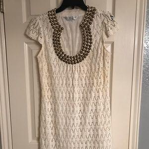 Trina Turk white crochet dress
